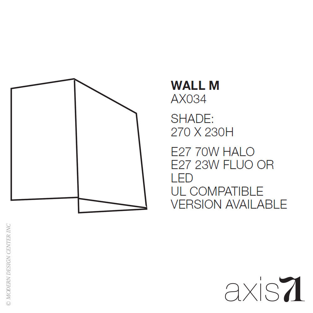 Axis 71 Memory M Wall Light - LoftModern - 4