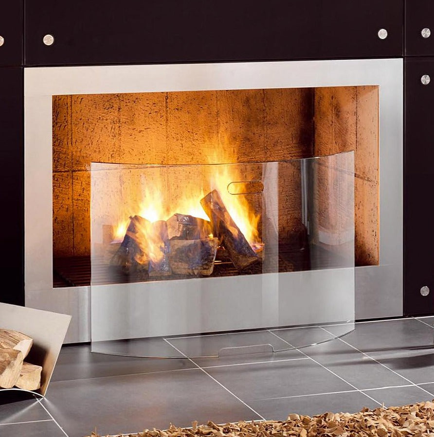 Shop original Conmoto Mentas Hardened Crystal Fireplace Screen available at LoftModern.com. Free Shipping and no tax.
