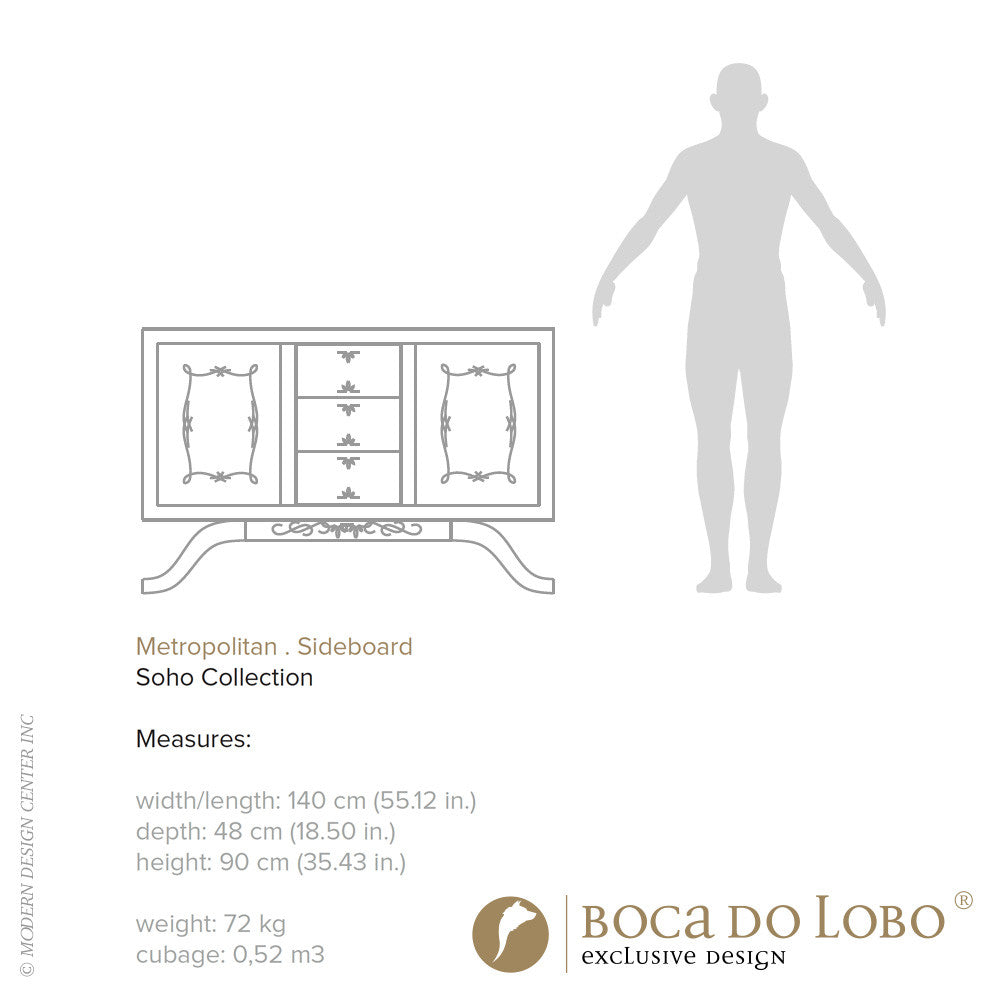 Boca do Lobo Metropolitan Sideboard Soho Collection - LoftModern - 4