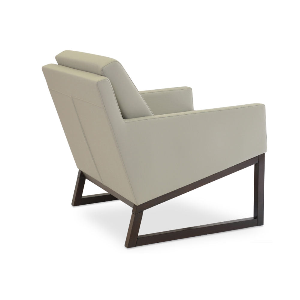 Nova Wood Arm Chair Leather by SohoConcept
