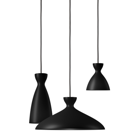 Pretty - Long Black Pendant Light of Nyta