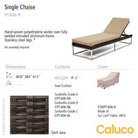 Mirabella Single Chaise by Caluco | Caluco | LoftModern