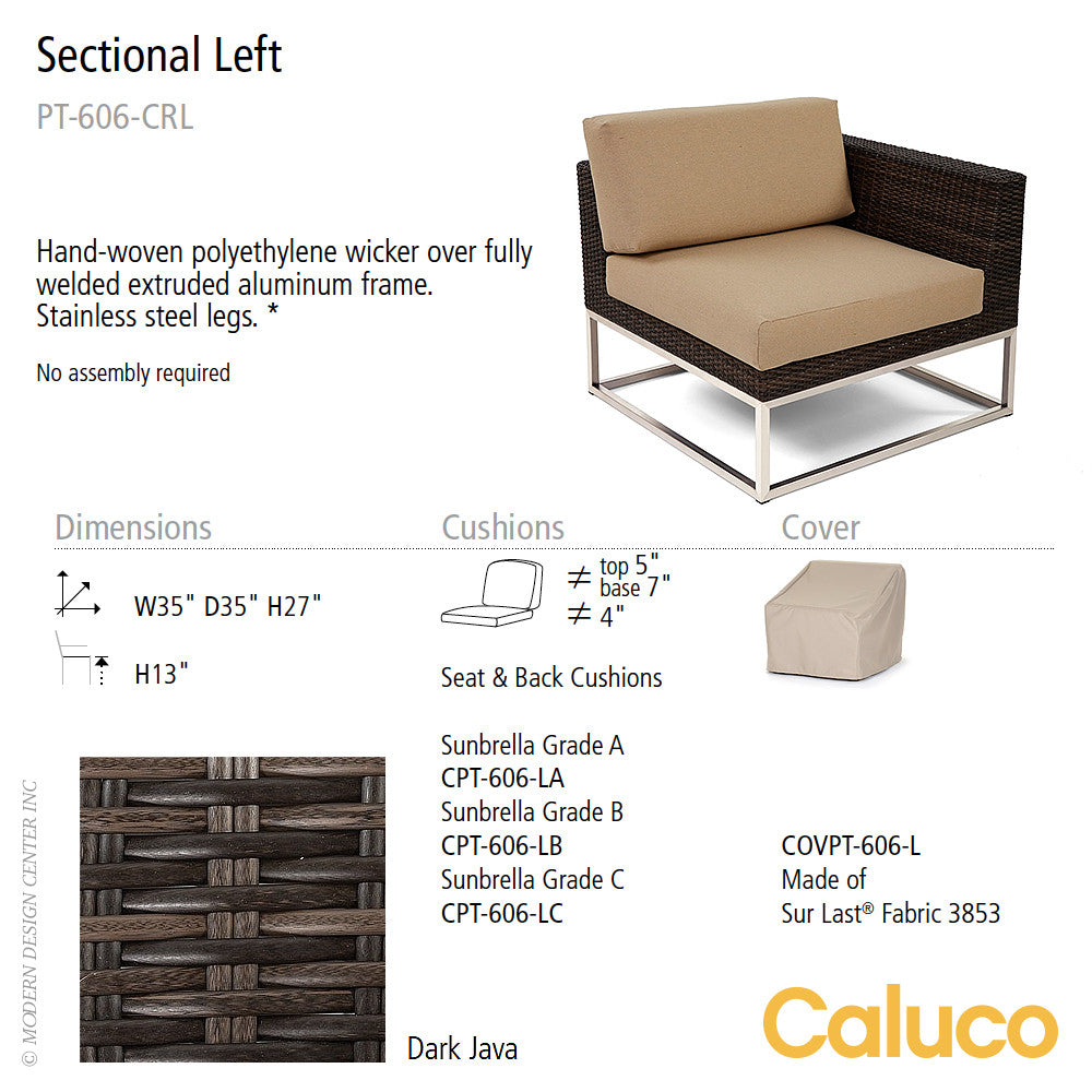 Mirabella Sectional Left by Caluco - LoftModern - 2
