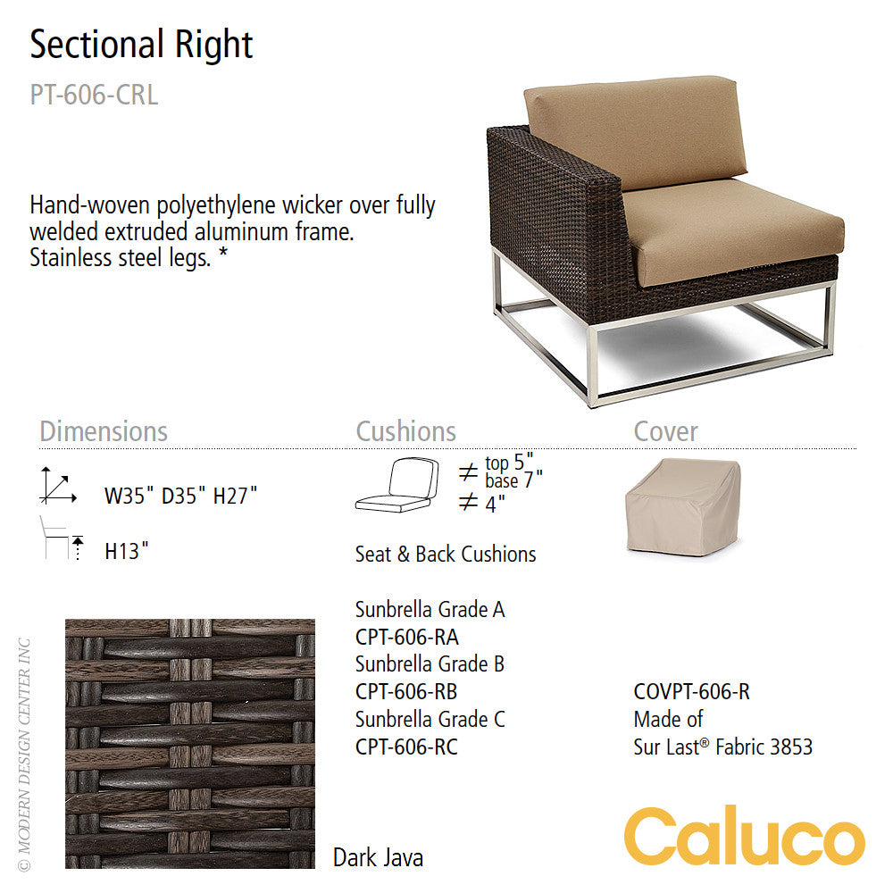 Mirabella Sectional Right by Caluco | Caluco | LoftModern