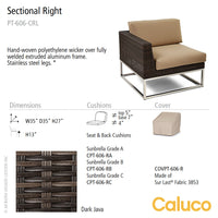 Mirabella Sectional Right by Caluco - LoftModern - 2