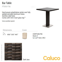 Mirabella Bar Table by Caluco | Caluco | LoftModern