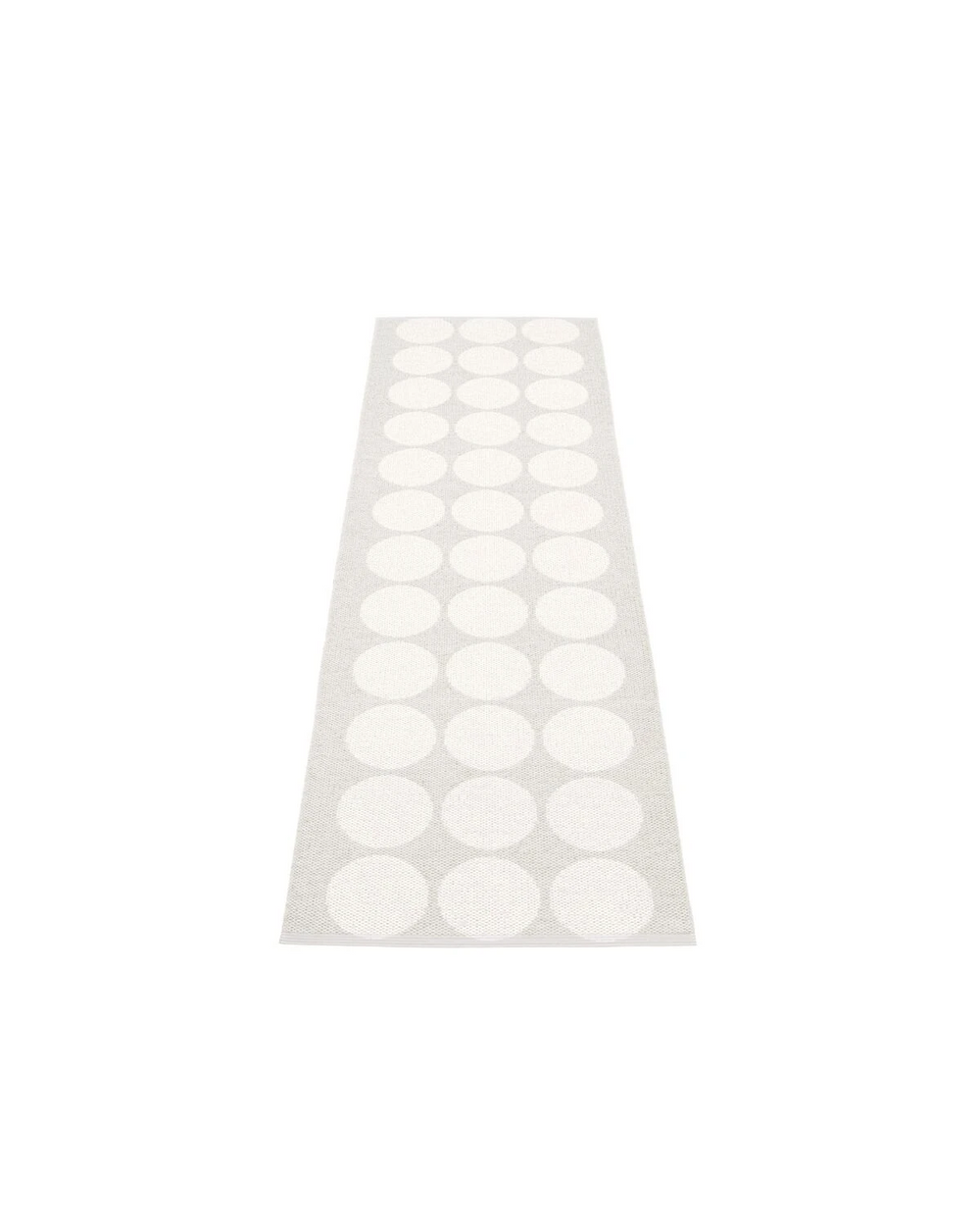Rug Hugo White Metallic by Pappelina