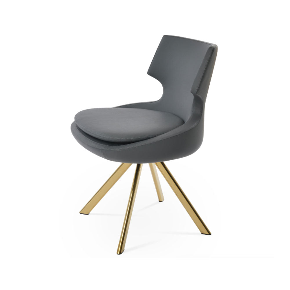 Patara Sword Dining Chair Leather by SohoConcept