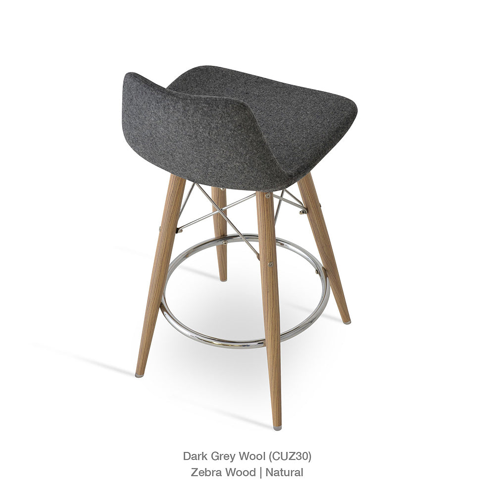 Pera MW Bar Stool Fabric by SohoConcept