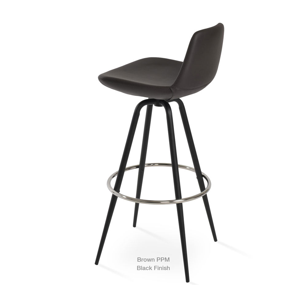 Pera Max Swivel Bar Stool Leather by SohoConcept