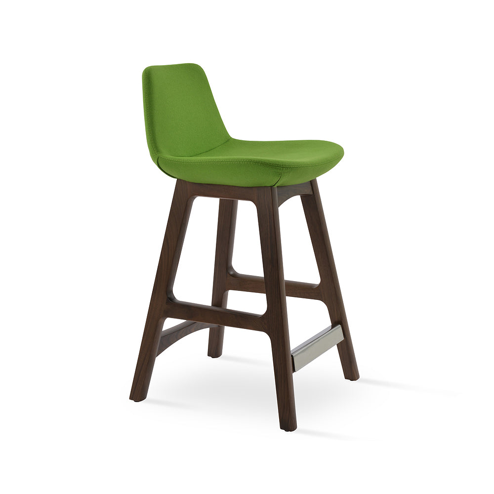Pera Wood Bar Stool Fabric by SohoConcept