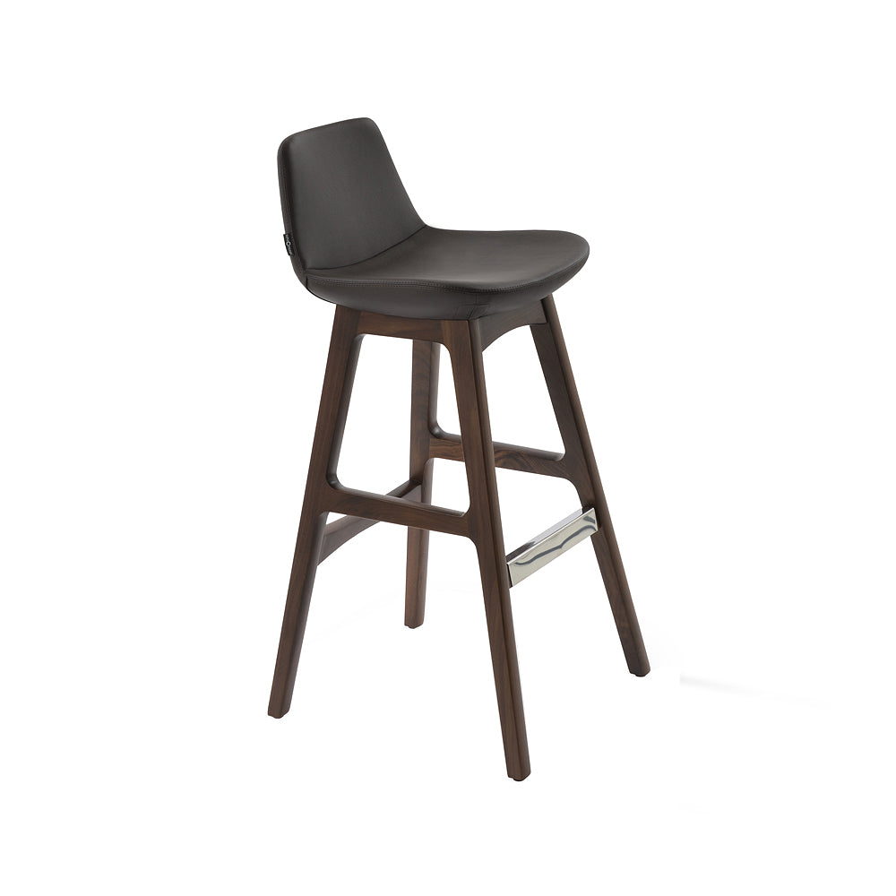 Pera Wood Bar Stool Leather by SohoConcept
