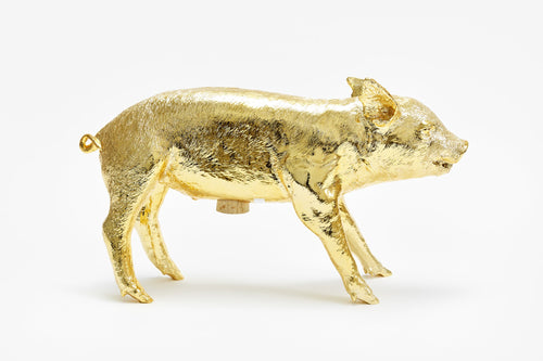 Reality Pig Bank Gold Chrome by Areaware