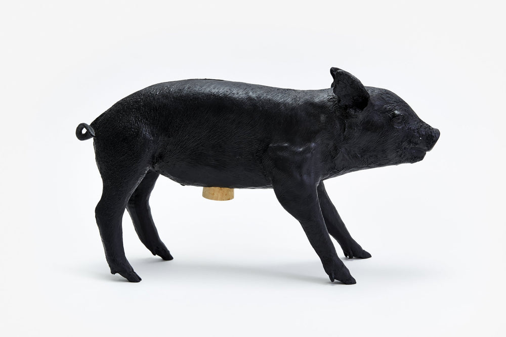 Reality Pig Bank Matte Black by Areaware