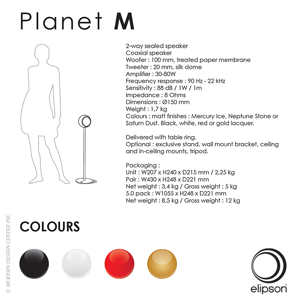 Planet M Speaker - Gold by Elipson