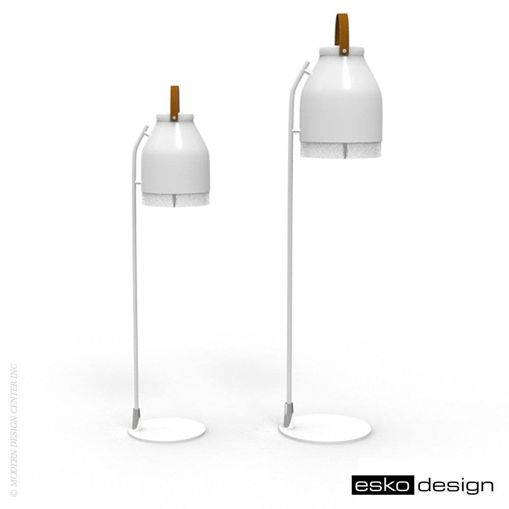 Cowbelle Desk Lamp Traffic White by Esko Design | Esko Design | LoftModern