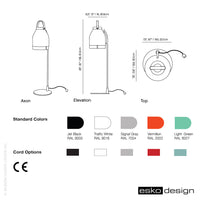 Cowbelle Desk Lamp Light Green by Esko Design
