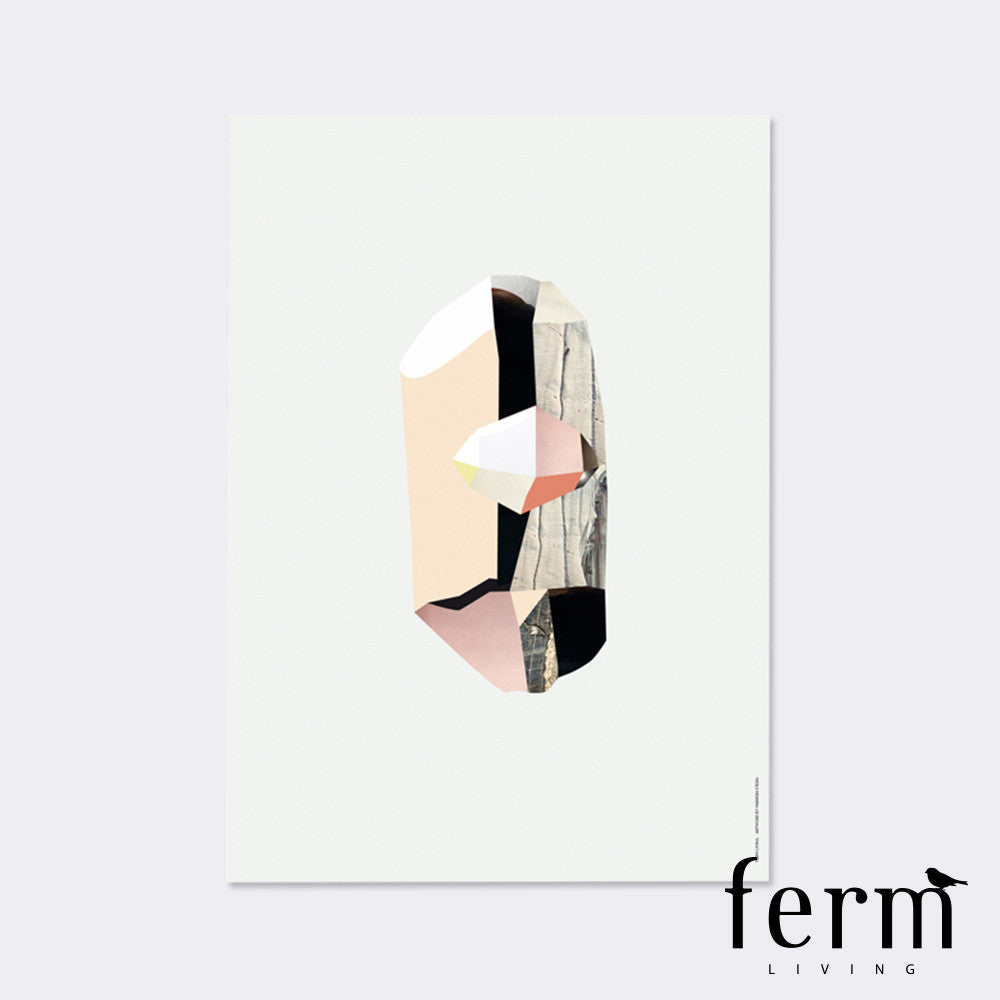 Ferm Living Quartz 3 Wooden Illustration - LoftModern - 1
