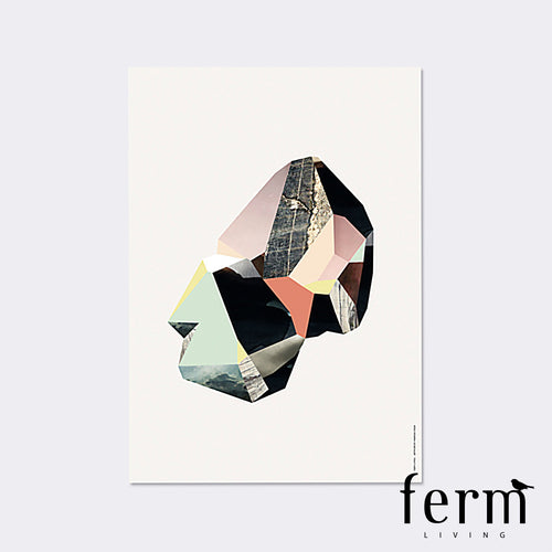 Ferm Living Quartz 4 Wooden Illustration | Ferm Living | LoftModern