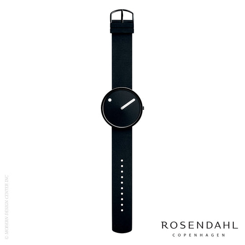 Rosendahl Picto Analog 40mm Watch Black/Black | Rosendahl | LoftModern