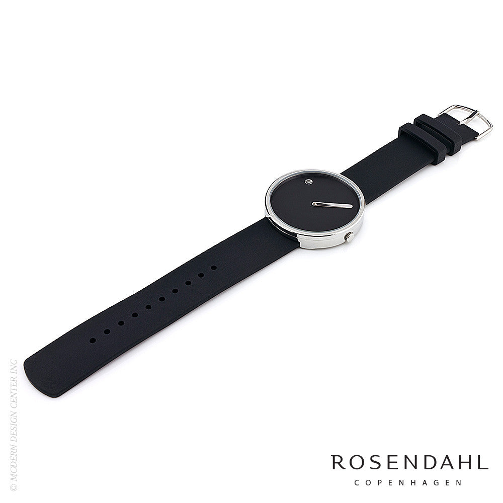 Rosendahl Picto Analog 40mm Watch Black/Steel | Rosendahl | LoftModern