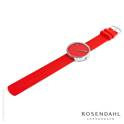Rosendahl Picto Analog 40mm Watch Red | Rosendahl | LoftModern