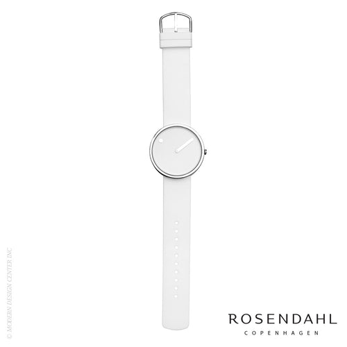 Rosendahl Picto Analog 40mm Watch White | Rosendahl | LoftModern