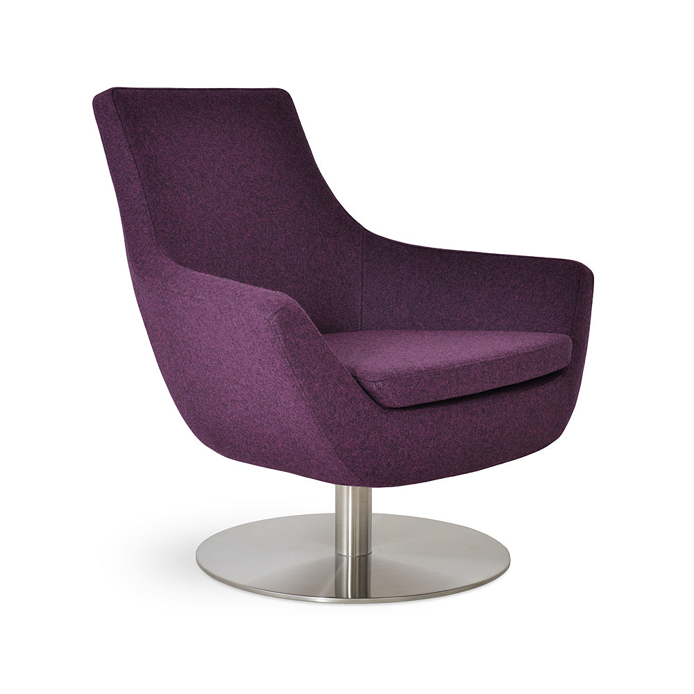 Rebecca Swivel Arm Chair Fabric by SohoConcept
