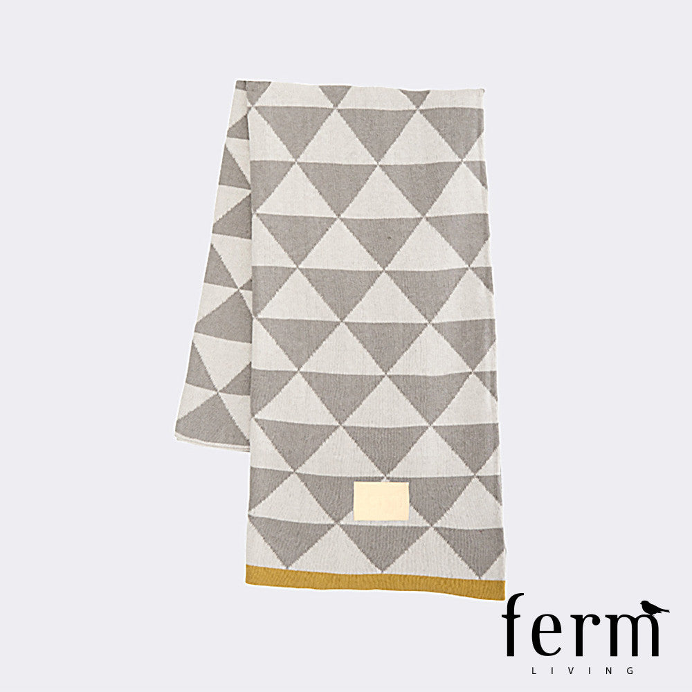 Ferm Living Remix Blanket Grey - LoftModern - 1