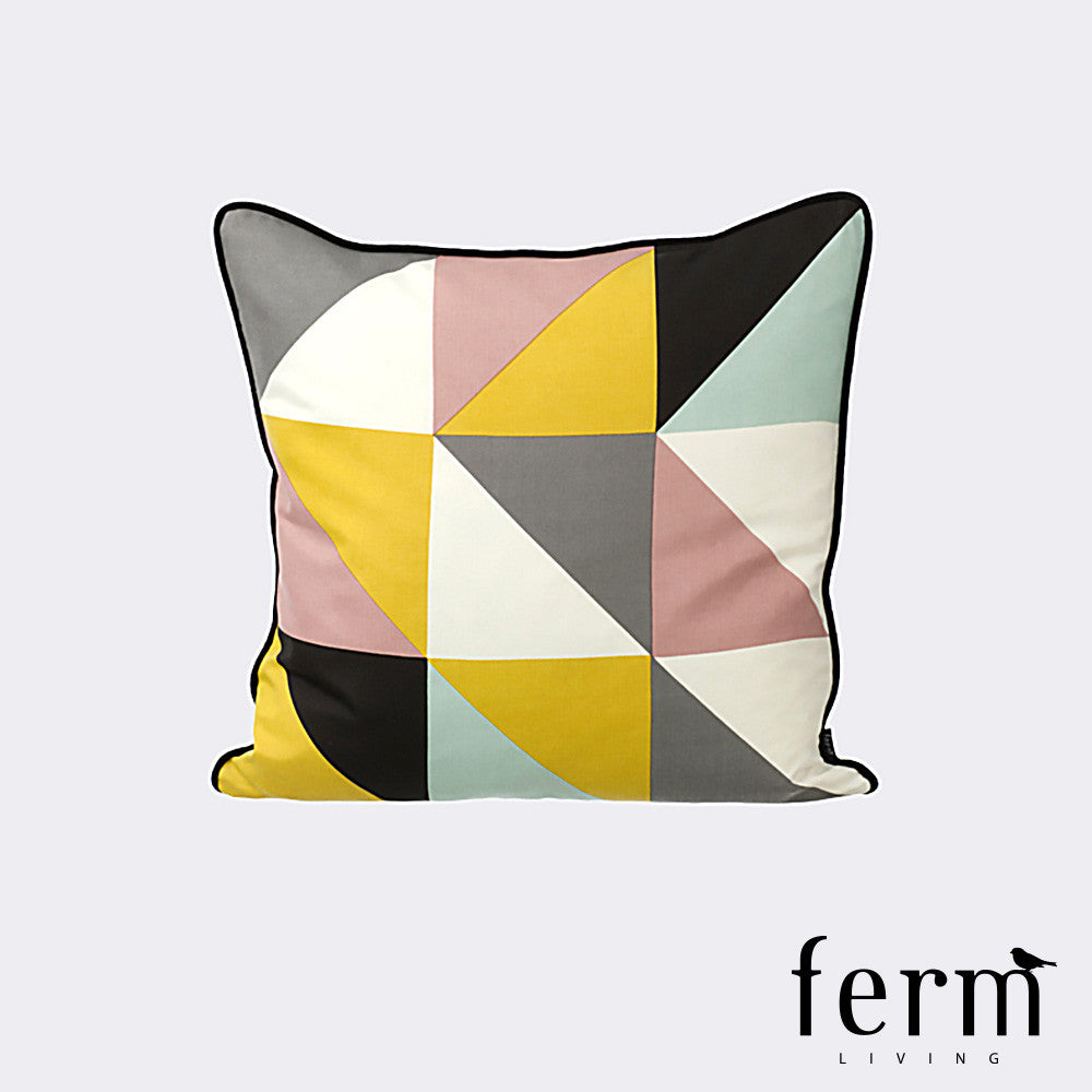Ferm Living Remix Cushion Yellow | Ferm Living | LoftModern
