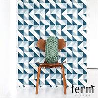 Ferm Living Remix Wallpaper Blue | Ferm Living | LoftModern