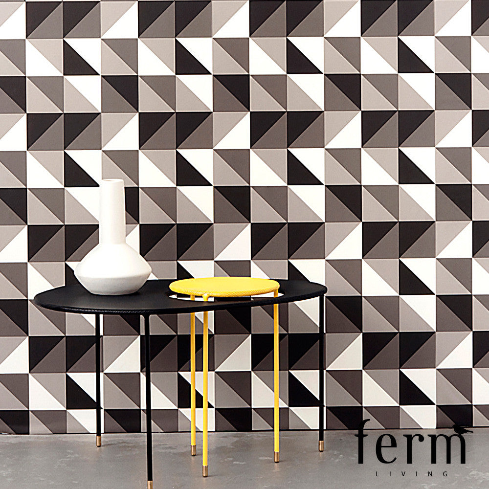 Ferm Living Remix Wallpaper Black | Ferm Living | LoftModern