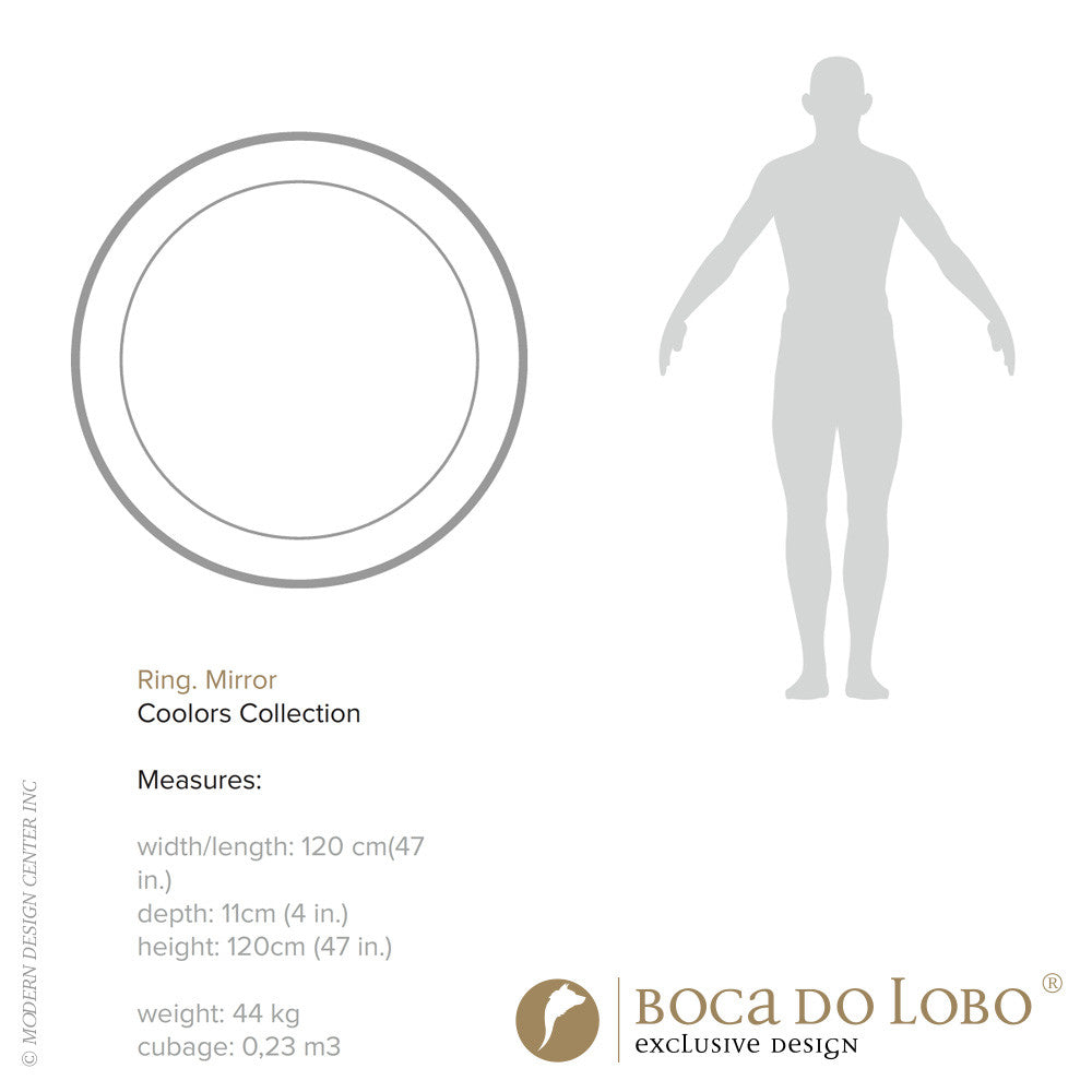 Boca do Lobo Ring Round Mirror Coolors Collection | Boca do Lobo | LoftModern