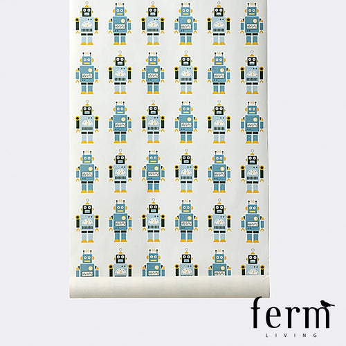 Ferm Living Robot Wallpaper | Ferm Living | LoftModern