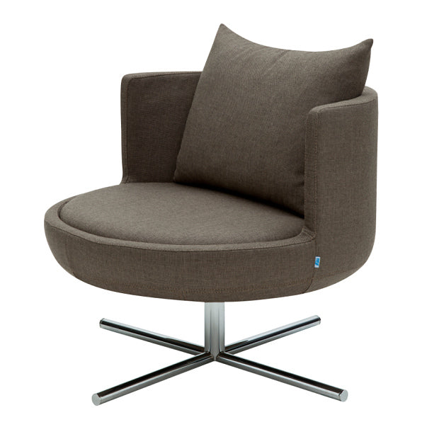 B&T Round Lounge Chair Swivel Metal Base