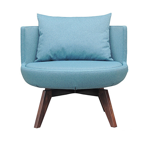 B&T Round Lounge Chair Swivel Wood Base