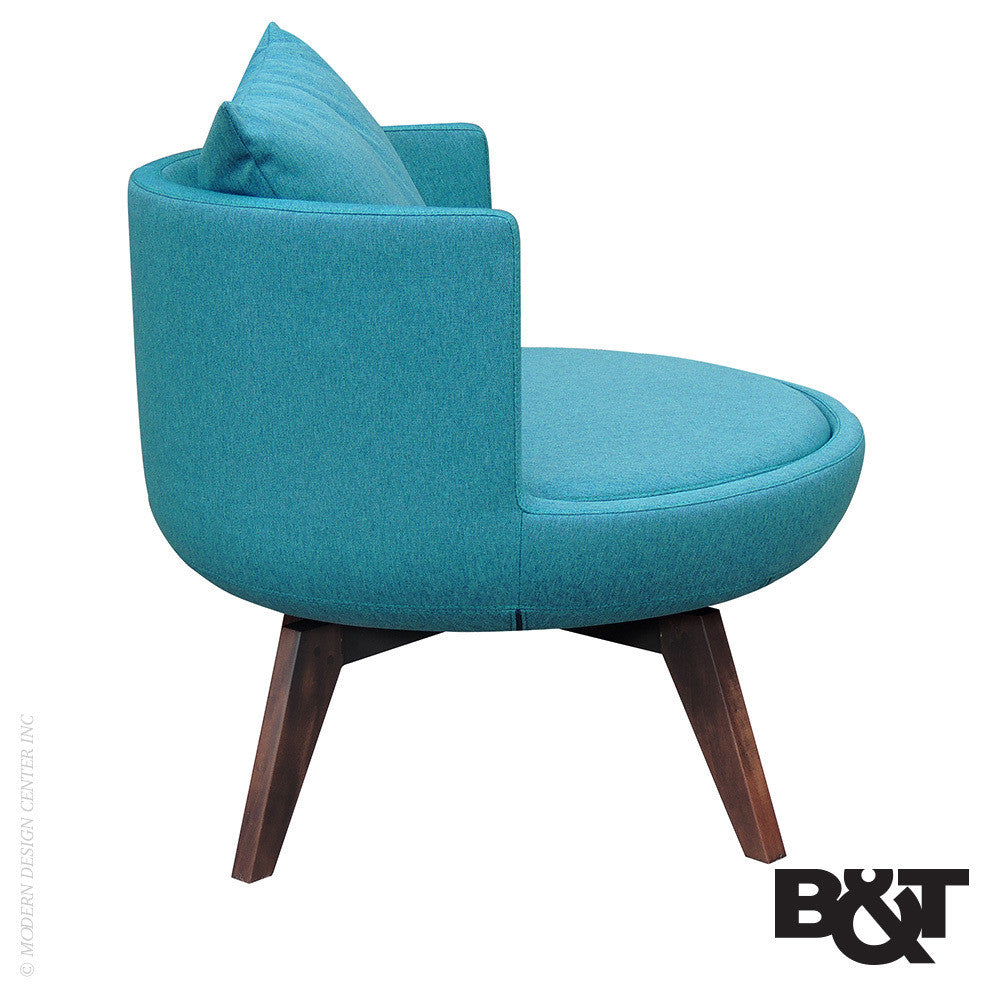 B&T Round Lounge Woody Chair | B&T | LoftModern