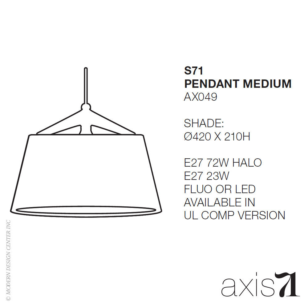 Axis 71 S71 Pendant Light Medium | Axis 71 | LoftModern
