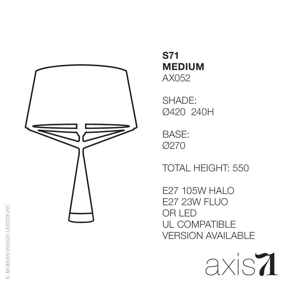 Axis 71 S71 Table Lamp Medium - LoftModern - 5