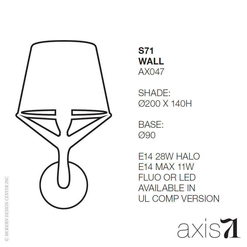 Axis 71 S71 Wall Lamp | Axis 71 | LoftModern