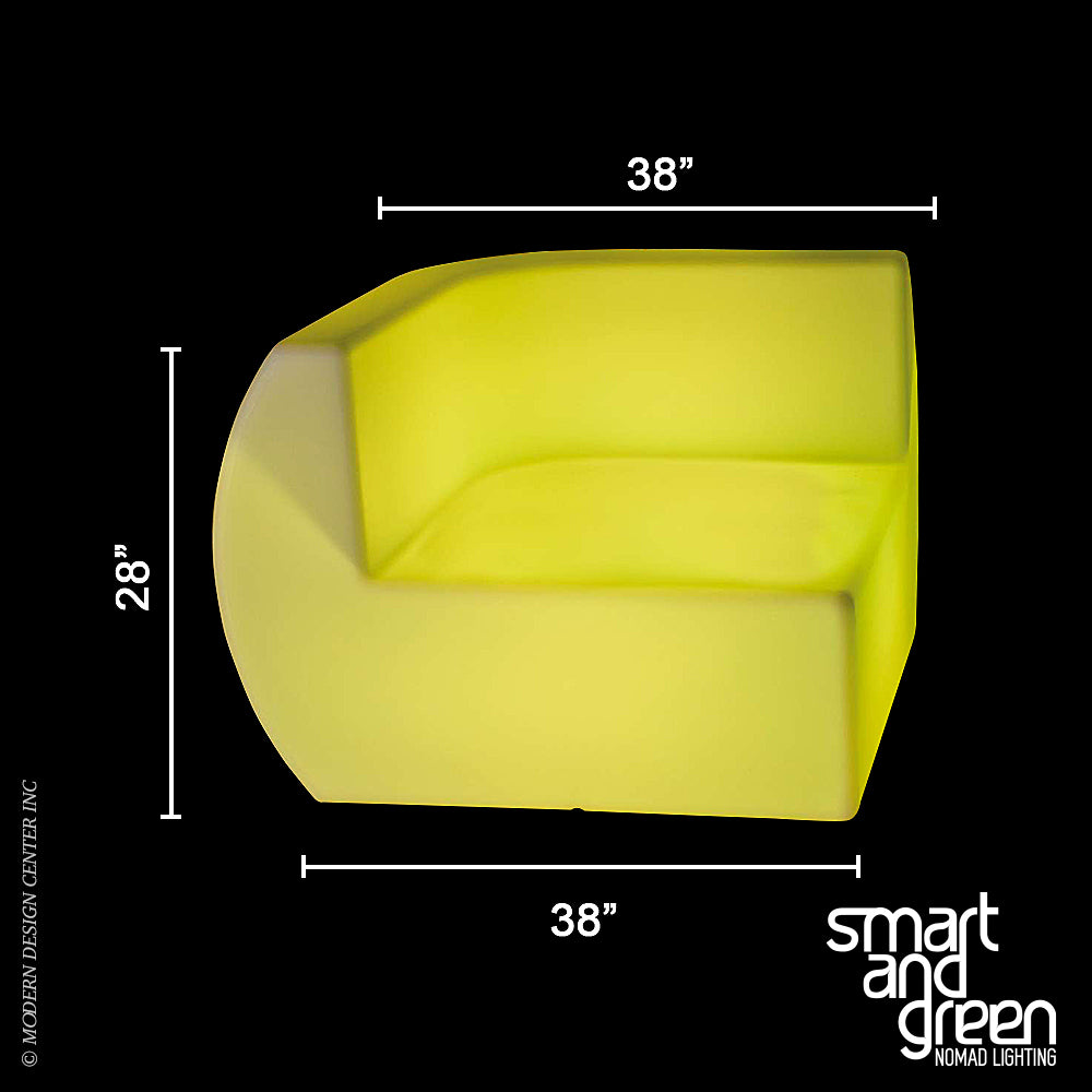 Side LED Sofa by Smart & Green