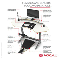 Focal Upright Sphere Desk - LoftModern - 14