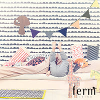 Ferm Living Striped Quilted Blanket Yellow | Ferm Living | LoftModern