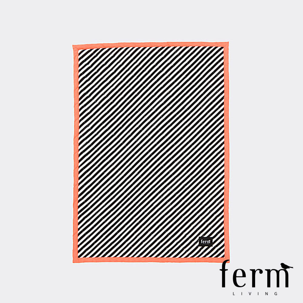 Ferm Living Striped Quilted Blanket Neon - LoftModern - 1