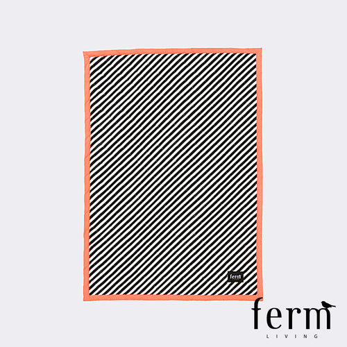 Ferm Living Striped Quilted Blanket Neon | Ferm Living | LoftModern