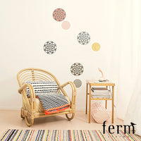 Ferm Living Striped Quilted Blanket Neon - LoftModern - 3