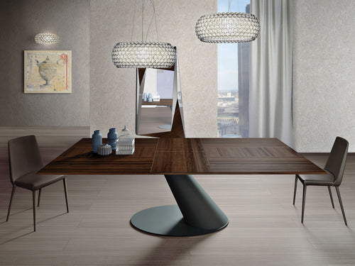 Thor Canaletto Walnut Dining Table by Ozzio