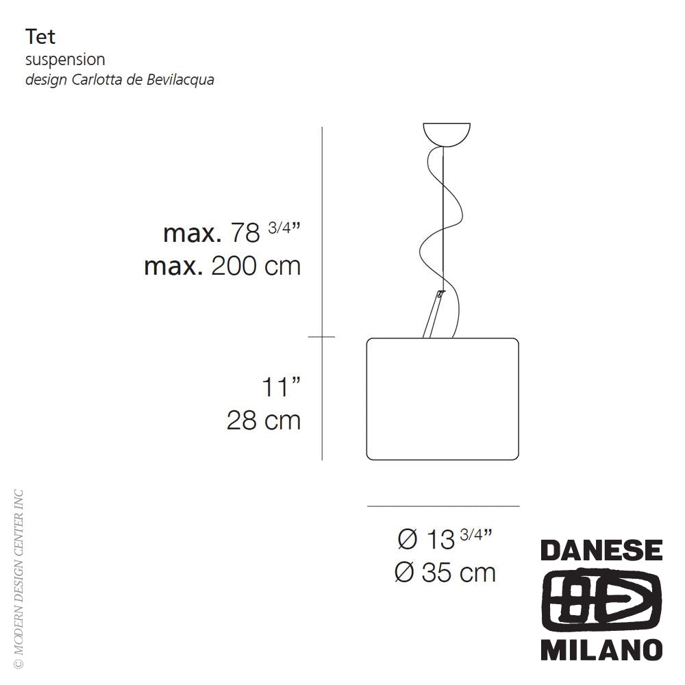 Tet Suspension by Danese Milano