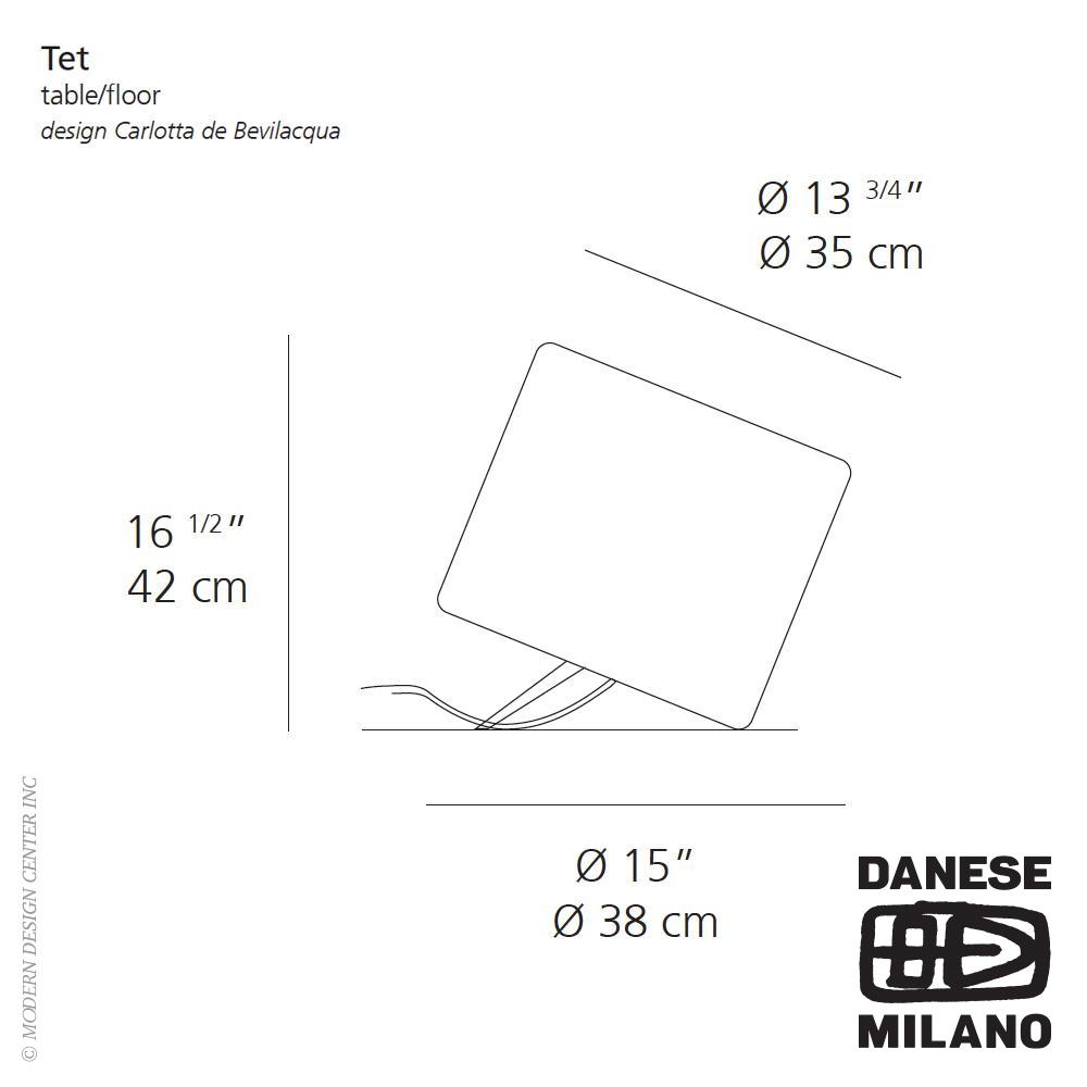 Tet Table/Floor Lamp by Danese Milano