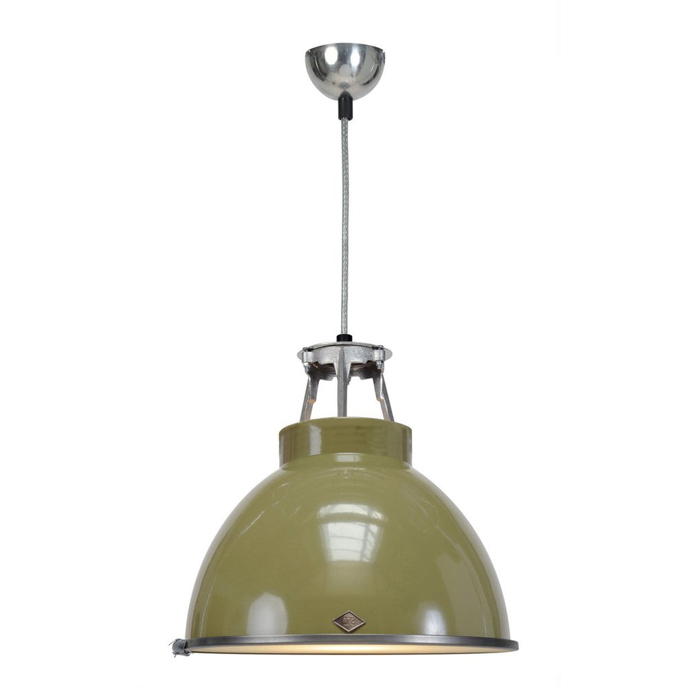 Titan Size 1 Olive Green Pendant Light of Original BTC